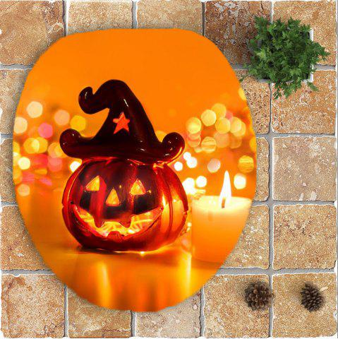 Buy Halloween Pumpkin Candle Printed 3Pcs Bathroom Mats Set - ORANGE  Mobile