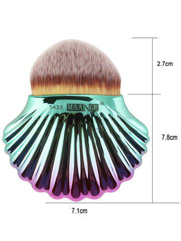 Affordable 7Pcs Plated Shell Design Ombre Makeup Brushes Set - RED WITH BLACK  Mobile