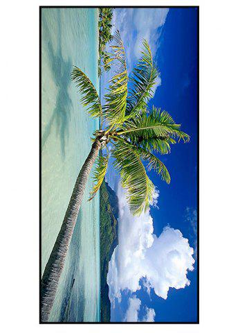 Shop Polyester Soft Coconut Tree Print Bath Towel BLUE W15.5 INCH * L67 INCH