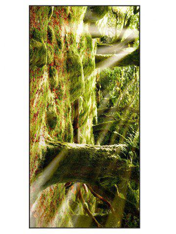 Natural Forest Print Soft Polyester Bath Towel - Yellow Green - W15.5 Inch * L67 Inch