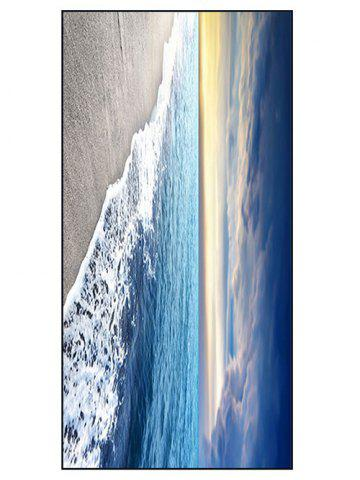 Sea Beach Printed Soft Polyester Bath Towel - Blue - W15.5 Inch * L67 Inch