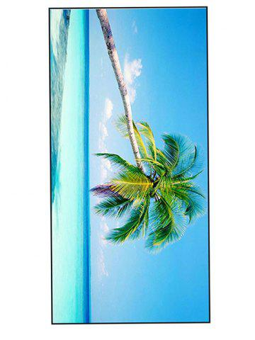 Comfortable Polyester Coconut Tree Bath Towel - Sky Blue - W15.5 Inch * L67 Inch