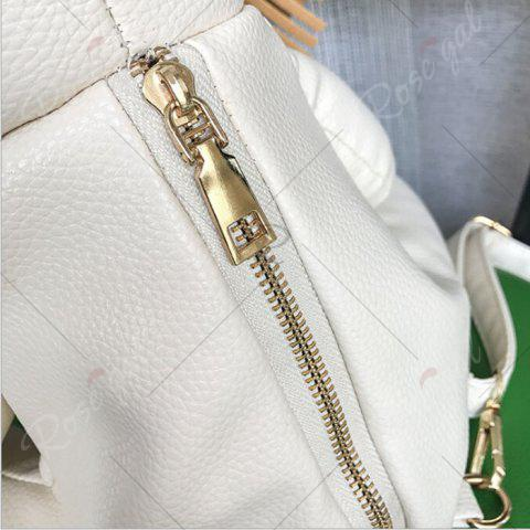 Fashion Faux Leather Lion Shaped Backpack - OFF-WHITE  Mobile