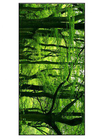 Forest Scenery Print Polyester Soft Bath Towel - Green - W15.5 Inch * L67 Inch