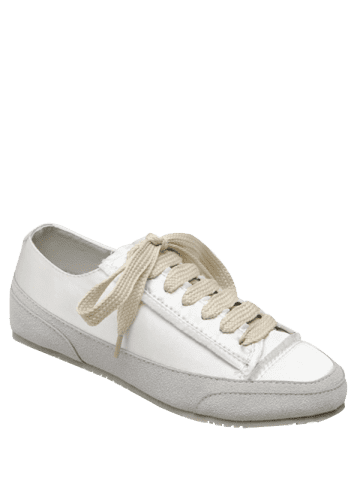 Best Casual Suede Insert Satin Sneakers - 37 WHITE Mobile