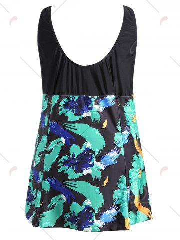 Hot Bow Tied Plus Size Skirted One Piece Swimsuit - 2XL COLORMIX Mobile