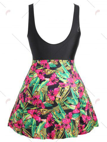 Shops Plus Size Floral Skirted One Piece Swimsuit - XL FLORAL Mobile