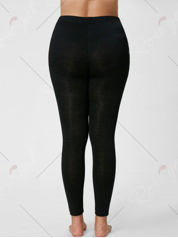 Shops Plus Size Ripped Slim Leggings - 2XL BLACK Mobile