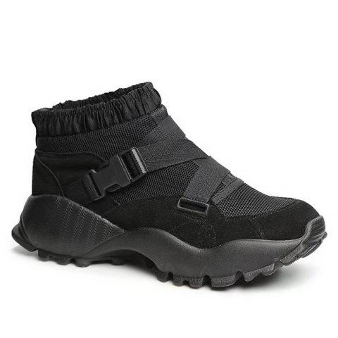 Affordable Color Block Buckle Straps Mesh neakers