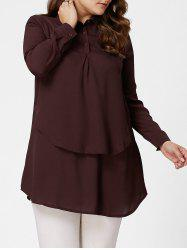 Plus Size Layering Full Sleeve Long Tunic Shirt