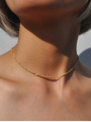 Beaded Collarbone Chain Necklace -