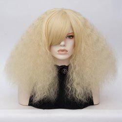 Long Side Bang Fluffy Curly Wave Lolita Cosplay Wig