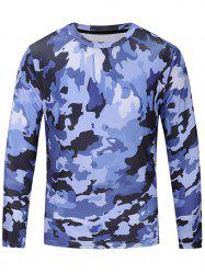 Camouflage Print Long Sleeve T-shirt