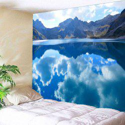 Clouds Mountains Lake Waterproof Hanging Wall Tapestry