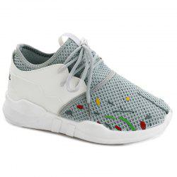Graffitti Breathable Mesh Sneakers - GRAY 37