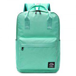 Double Pocket Top Handle Backpack - GREEN