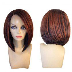 Short Side Parting Colormix Straight Inverted Bob Synthetic Wig