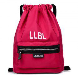 Nylon String Letter Print Backpack -