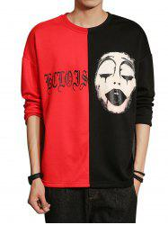 Grimace Graphic Print Color Block Panel T-shirt -
