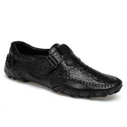 Whipstitch Crocodie Embossed Casual Shoes -
