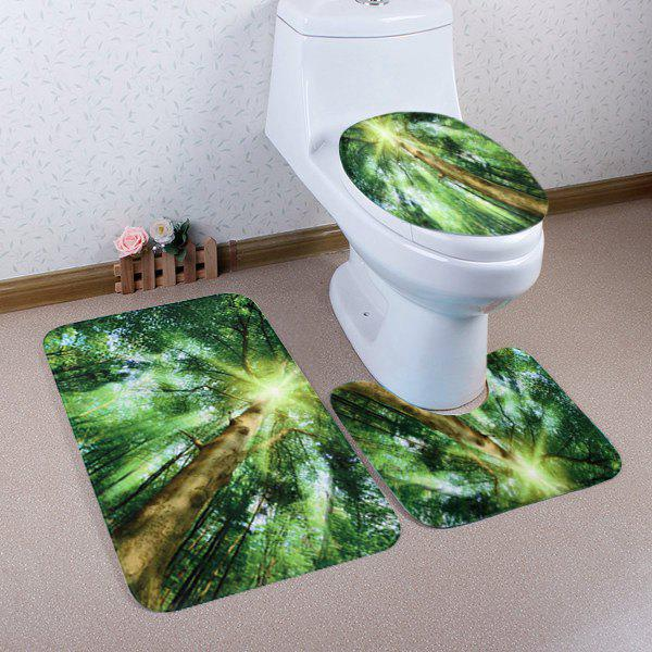 Sunlight Forest Pattern Ensemble de toilette 3 pcs