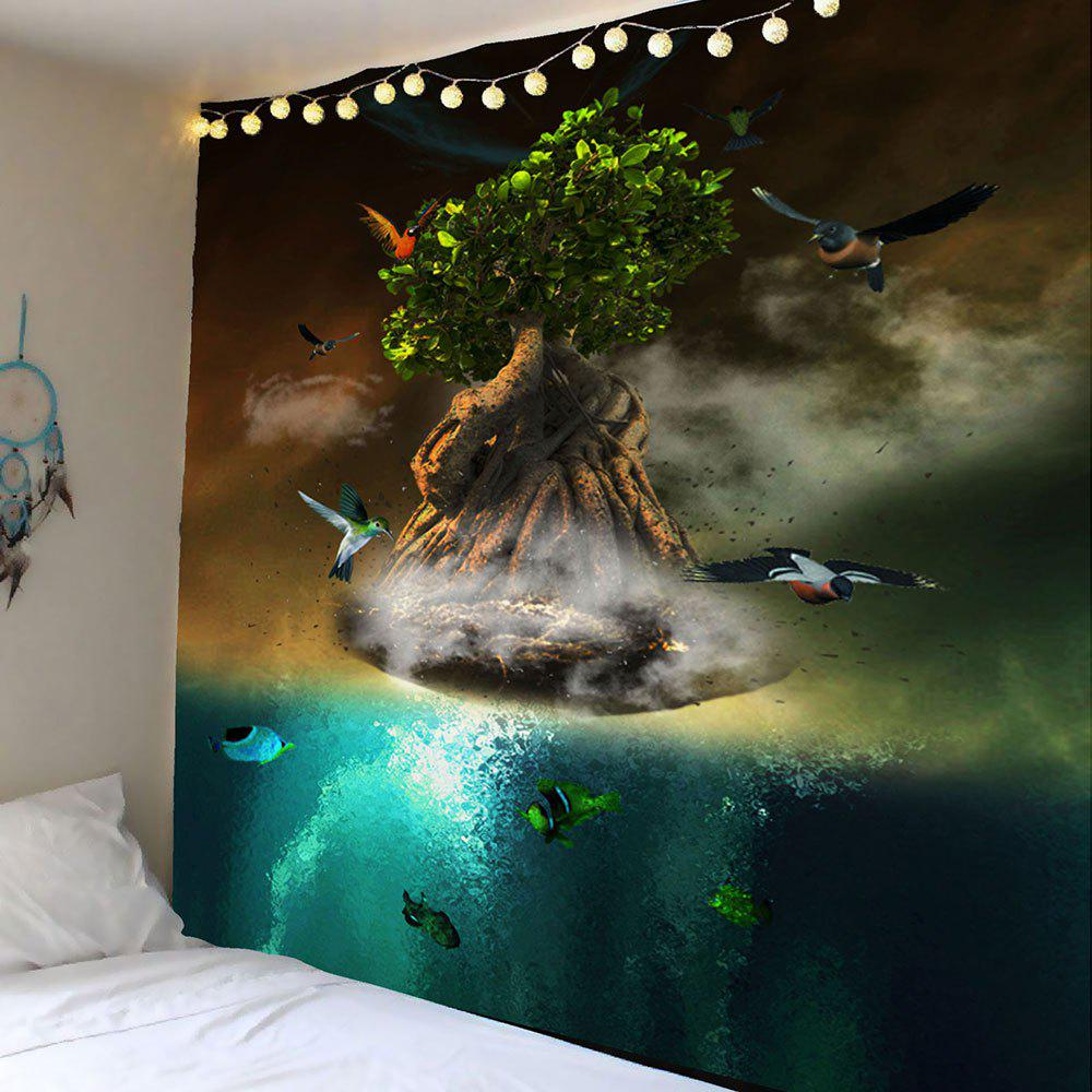 Trendy Wall Hanging 3D Animal Tree Printed Tapestry