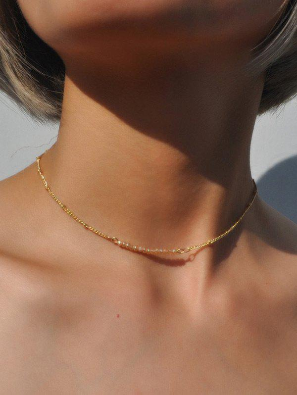 Store Beaded Collarbone Chain Necklace
