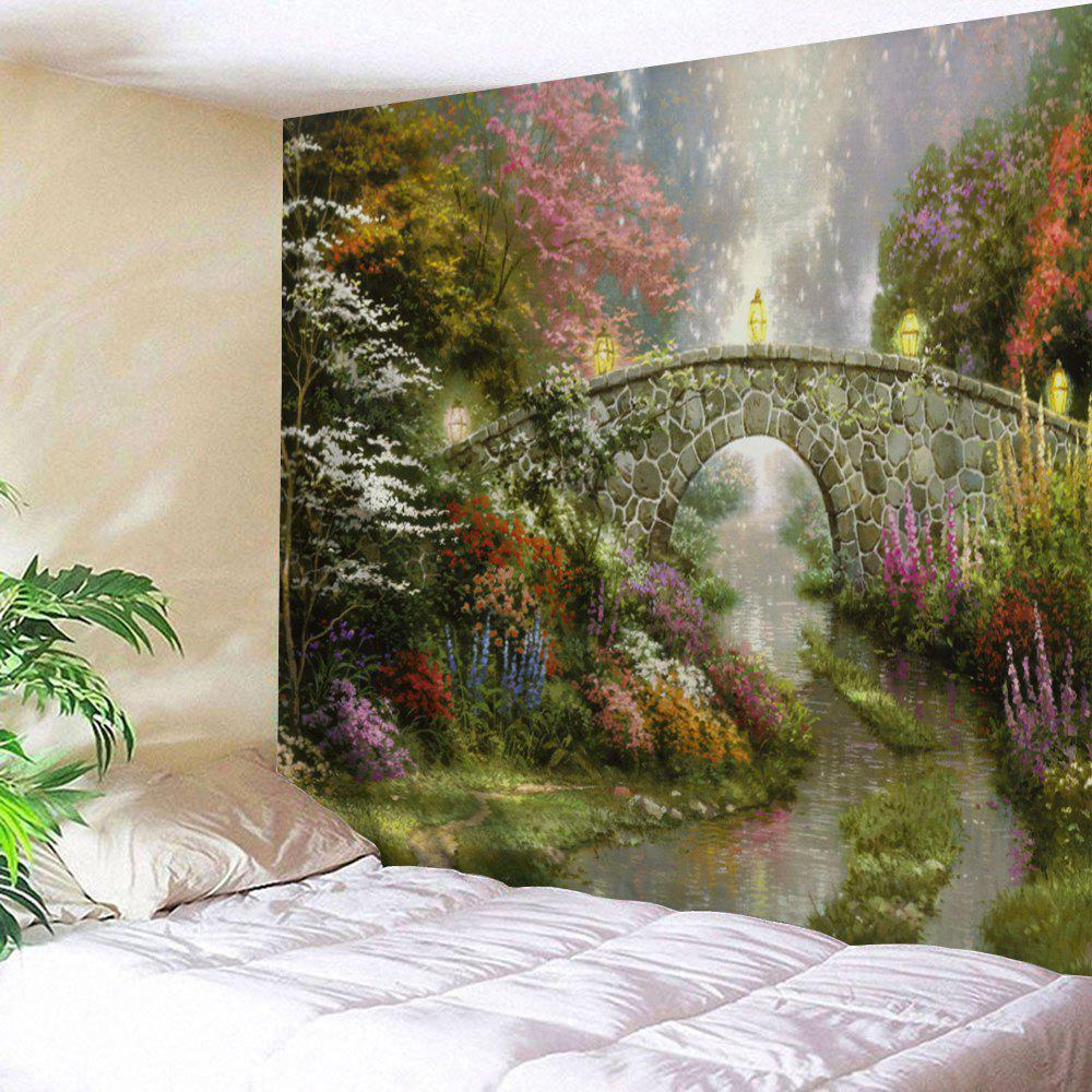 Natural Scenery Wall Art Decor TapestryHOME<br><br>Size: W91 INCH * L71 INCH; Color: COLORMIX; Style: Natural; Theme: Landscape; Material: Polyester; Feature: Removable,Washable; Shape/Pattern: Print; Weight: 0.3800kg; Package Contents: 1 x Tapestry;