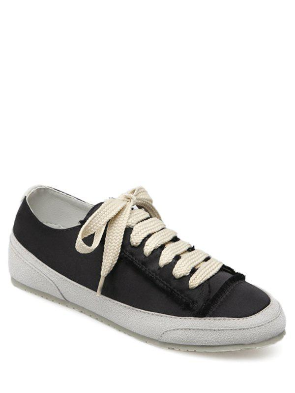 Buy Casual Suede Insert Satin Sneakers
