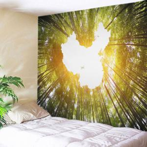 Bamboo Forest Sky Print Tapestry Wall Hanging Decoration