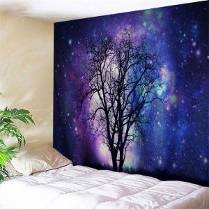 Galaxy Tree Wall Art Hanging Tapstry - Blue Violet - W91 Inch * L71 Inch