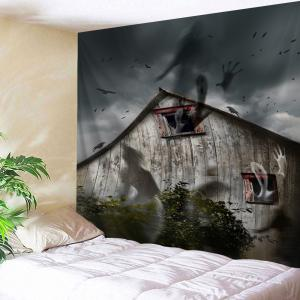 Halloween Theme Spook House Wall Tapestry