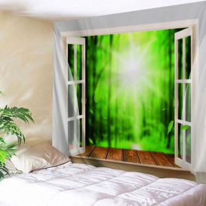 Window Nature View Printed Wall Tapestry