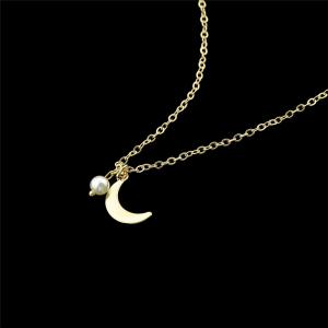 Moon Pendentif Collier - Or
