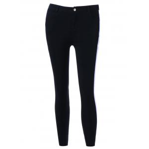 Two Tone Four Pockets Fitted Pants