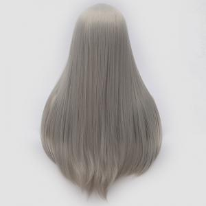 Long Middle Part Tail Adduction Straight Cosplay Anime Wig -