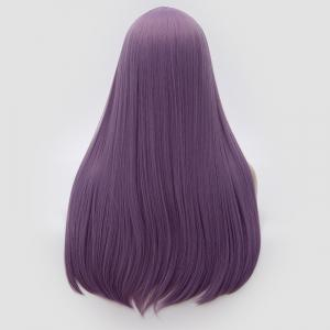 Longue partie moyenne Partie Adduction Straight Cosplay Anime Wig - Pourpre
