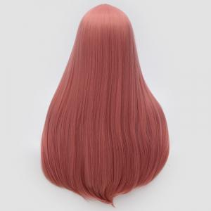 Longue partie moyenne Partie Adduction Straight Cosplay Anime Wig - Rose Fumé