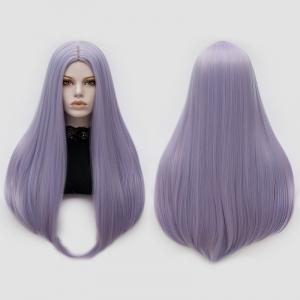 Long Middle Part Tail Adduction Straight Cosplay Anime Wig