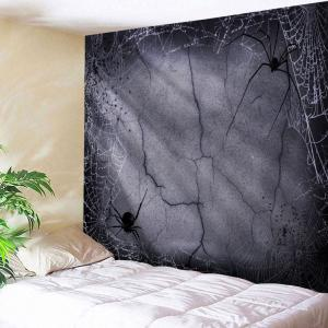 Halloween Spider Web Print Tapestry Wall Hanging Art Decoration