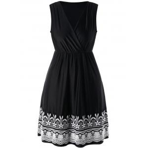 Plus Size Crochet High Waist Wrap Dress