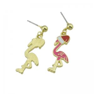 Ball Christmas Hat Bird Drop Earrings -