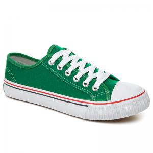 Low-top Canvas Sneakers - Green - 37