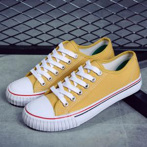 Low-top Canvas Sneakers - YELLOW 39