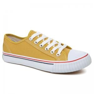 Low-top Canvas Sneakers - Yellow - 38