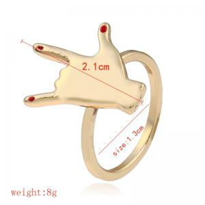 Love you Hand Gesture Finger Ring - GOLDEN