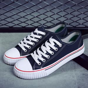 Low-top Canvas Sneakers - BLUE 38