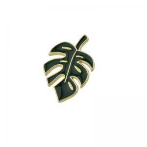 Alloy Tiny Leaf Brooch - Green