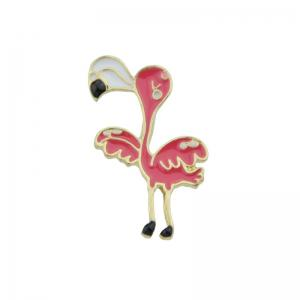 Funny Tiny Bird Brooch - Red