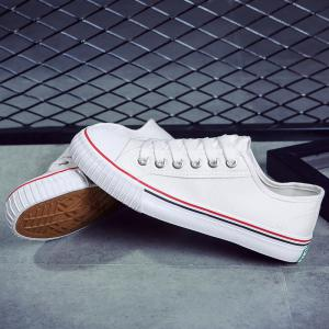Classic Low-top Canvas Sneakers - WHITE 43